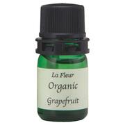 ラ・フルールECOCERT認定オーガニックエッセンシャルオイルミニ グレープフルーツ(3ml)