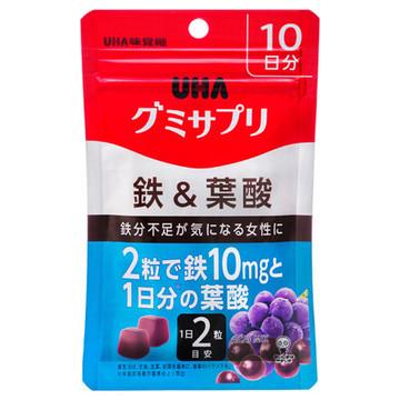 UHA味覚糖/UHAグミサプリ鉄&葉酸 商品写真 2枚目