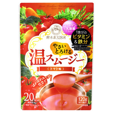 ジェイフロンティア/酵水素328選やさいとろける温スムージー トマト味 商品写真 2枚目