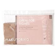 着圧オープントゥタイツ55:ライトブラウン/HAKUTORIKO 商品写真