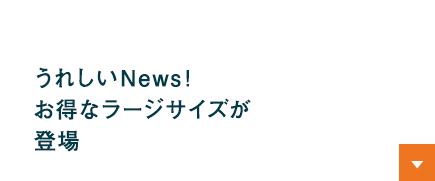 うれしいNews!お得なラージサイズが登場