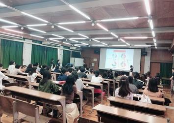 市立高校にてPTA様へのカラーセミナーイベントに参加^^