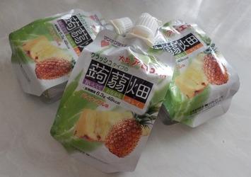 パイナップル味の蒟蒻畑♪